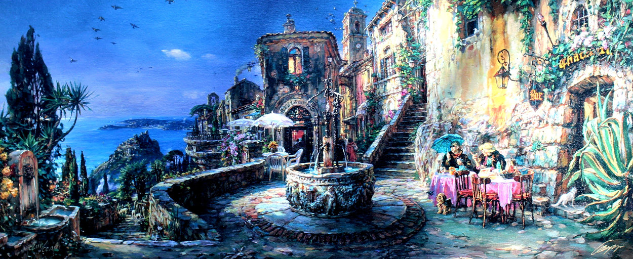 Mediterranean Sunrise AP Embellished Limited Edition Print by Cao Yong