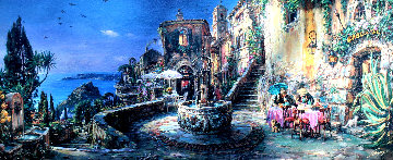 Mediterranean Sunrise AP Embellished Limited Edition Print - Cao Yong