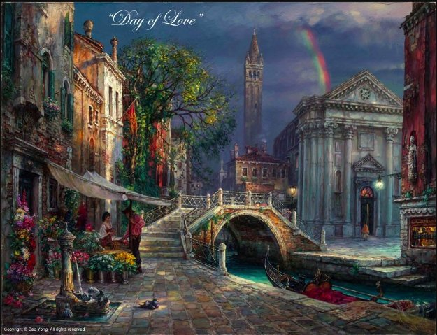 Day of Love Limited Edition Print by Cao Yong