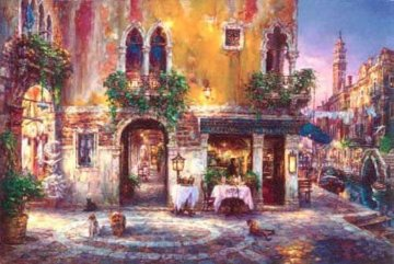 Evening in Venice Embellished Limited Edition Print - Cao Yong