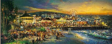 Santa Monica 2000 Embellished Huge Limited Edition Print - Cao Yong