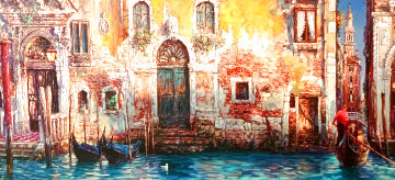 Morning in Venice 2000 Embellished Limited Edition Print - Cao Yong