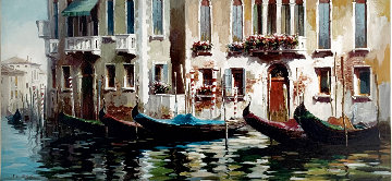 Venetian Morning 50x31 Super Huge Original Painting - Cao Yong