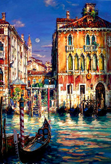 Venetian Sunset AP Embellished  Limited Edition Print - Cao Yong