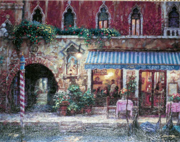 Venice Nights, and Day of Love (Set of 2 Prints) Embellished Limited Edition Print - Cao Yong