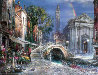 Venice Nights, and Day of Love (Set of 2 Prints) Embellished Limited Edition Print by Cao Yong - 1