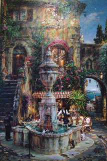 Twilight by the Fountain AP Limited Edition Print by Cao Yong