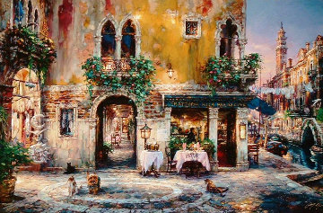 Evening in Venice 2003 28 X 42 Limited Edition Print - Cao Yong