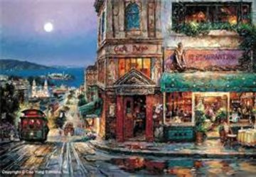 Cafe Prego, San Francisco Limited Edition Print - Cao Yong