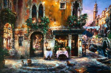 Evening in Venice Italy Limited Edition Print by Cao Yong