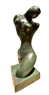 Torso Bronze Sculpture 1988 26 in Sculpture - Manuel Carbonell