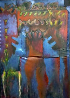 Doguitoff Dogs 1988 65x42 Super Huge Original Painting - Carlos Loarca