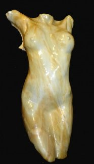 Heartbreaker (Reduction) in Creamsicle Glass Sculpture 2009 36 in Sculpture - Carl Young