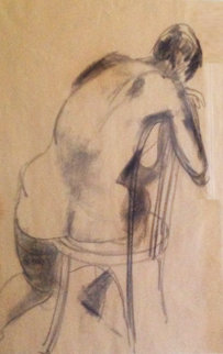 Nude Sketch Drawing 32x25 Drawing - Anthony  Caro