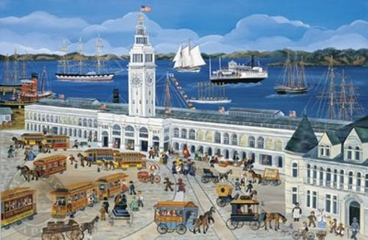 Port of San Francisco/Ferry House AP 2002 Limited Edition Print by Carol Dyer