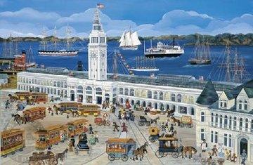 Port of San Francisco/Ferry House AP 2002 Limited Edition Print - Carol Dyer