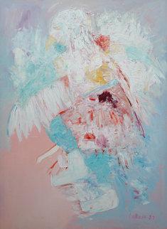 Eagle Dancer 1987 60x48 Original Painting by Carole Laroche