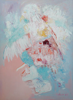 Eagle Dancer 1987 60x48 Original Painting - Carole Laroche