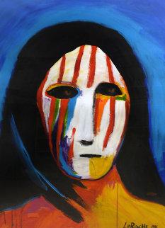 Brave Warrior (Portrait) 2004 42x55 Works on Paper (not prints) by Carole Laroche