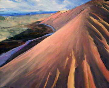 Hot Hill 1991 32x38 Original Painting by Howard Carr