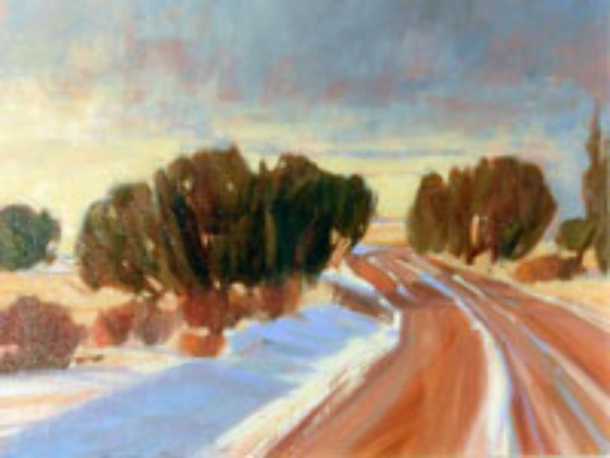 Winding Through 1991 16x20 Original Painting by Howard Carr