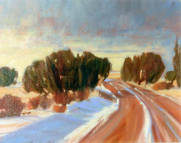 Winding Through 1991 16x20 Original Painting - Howard Carr