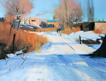 Snow Day Original Painting - Howard Carr
