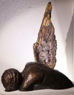 Fallen Angel Bronze Sculpture  2017 22 in Sculpture - Teddy Carraro