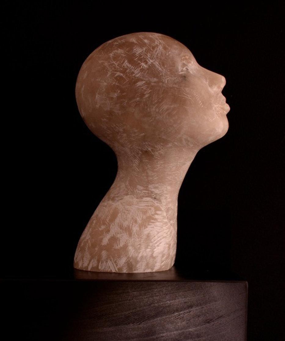 Honey Woman Alabaster Sculpture Unique 2016 15 in Sculpture by Teddy Carraro