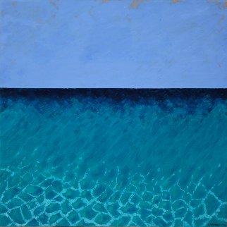 Mediterranean 2017 33x33 Original Painting - Teddy Carraro