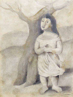 Mujer Con Fruta 1945 Works on Paper (not prints) - Mario Carreno