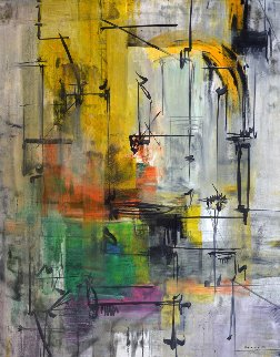 Pathway 2007 72x58 Original Painting by Antonio Carreno