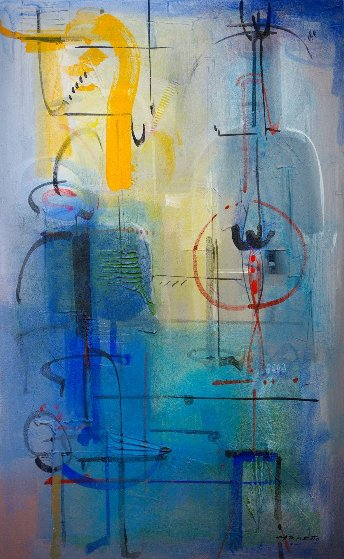 Blue Moon Risen 2004 60x40 Works on Paper (not prints) by Antonio Carreno