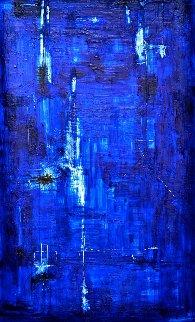 Deep Blue 2004 60x40 Huge Works on Paper (not prints) - Antonio Carreno