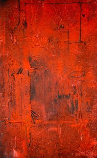 Red Ascending 2004 72x48 Huge Works on Paper (not prints) - Antonio Carreno