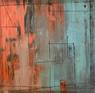 Stage Two 2012 31x31 Original Painting - Antonio Carreno