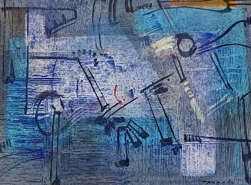 Blue Light 2008 33x41 Works on Paper (not prints) by Antonio Carreno