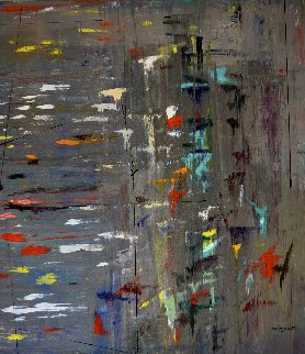Sequence of Thoughts #3 2012 62x52 Original Painting - Antonio Carreno