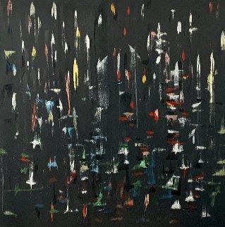 Other Night 2015 48x48 Huge Original Painting - Antonio Carreno