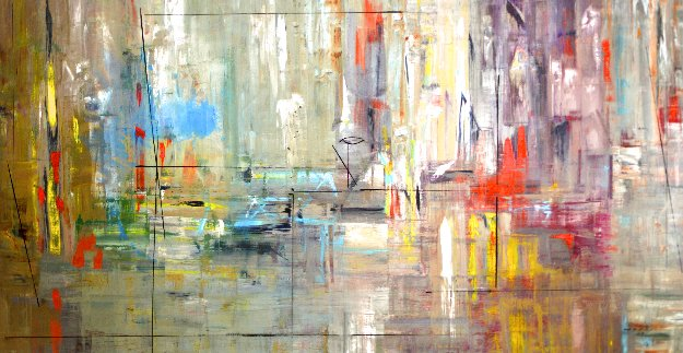 Shifting Memories 2010 50x100 Mural Original Painting by Antonio Carreno