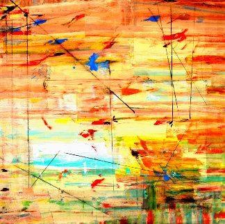 Morning Thought 2012 49x49 Original Painting - Antonio Carreno