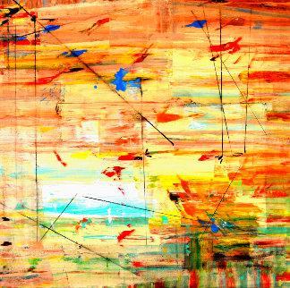 Morning Thought 2012 49x49 Huge  Original Painting - Antonio Carreno