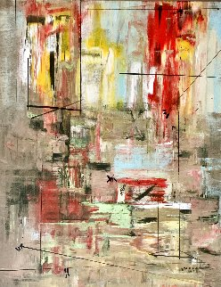 Fervent 2014 48x38 Original Painting - Antonio Carreno