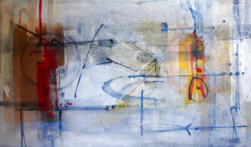 Poema Al Sol 2006 42x61 Works on Paper (not prints) by Antonio Carreno