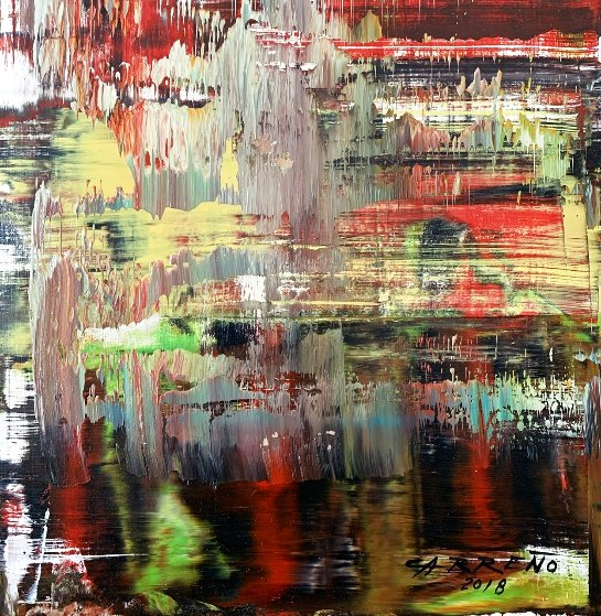 Solstice 2018 13x15 Original Painting by Antonio Carreno