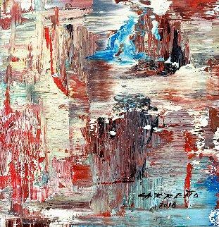 Fluvial 2018 13x15 Original Painting - Antonio Carreno