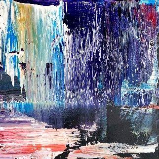 Violet #2 2018 13x15 Original Painting - Antonio Carreno