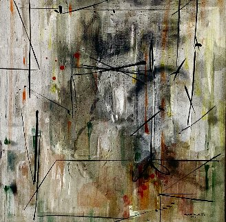 Expansión Zone #1 2009 40x40 Original Painting - Antonio Carreno