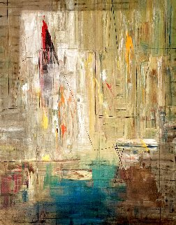 Séquense of Thoughts 2011 72x58 Huge Original Painting - Antonio Carreno