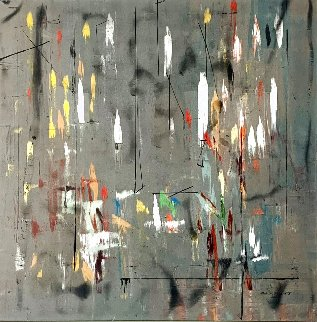 Phase Ascending  2012 50x50 Original Painting - Antonio Carreno